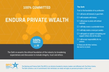 Endura Private Wealth is 100% committed to the BFO